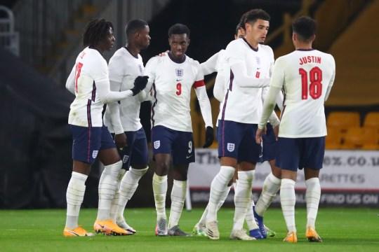 Nketiah helped England beat Turkey 2-1