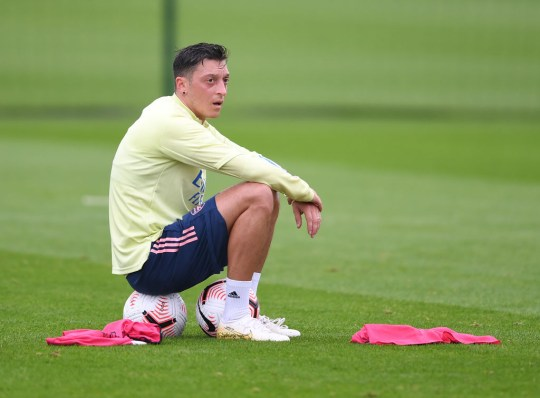 Ozil has been axed from Arsenal's Premier League squad