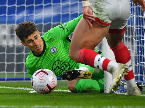 Frank Lampard reacts to Kepa Arrizabalaga's latest mistake in Chelsea's draw with Southampton
