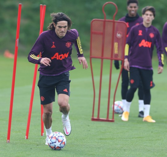 Session de formation Edinson Cavani Manchester United