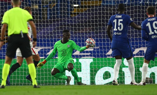 Edouard Mendy Chelsea FC v FC Sevilla: Group E - UEFA Champions League