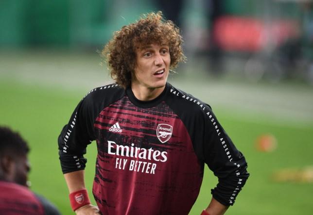 David Luiz scored as Arsenal beat Rapid Vienna in the Europa League