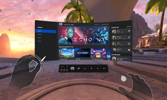 Oculus Quest 2 home environment