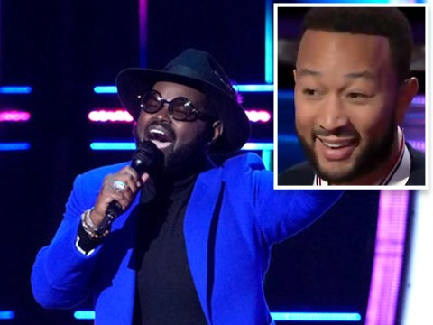 The Voice US' John Legend turns after hearing contestant sing his first note: 'Best performer ever'