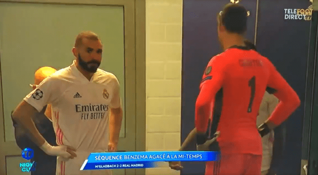 Karim Benzema destroys Vinicius Junior during Real Madrid's draw with Gladbach and tells Ferland Mendy not to pass to him