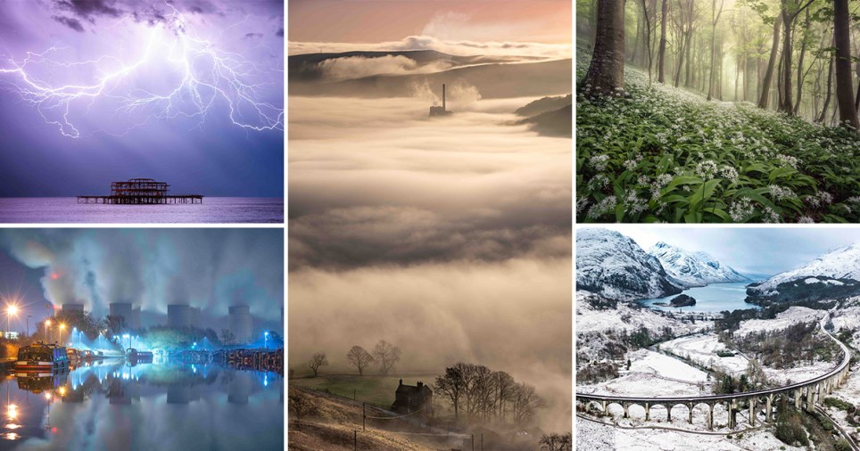 Some of the winners on the competition in the Landscape Photographer of the Year