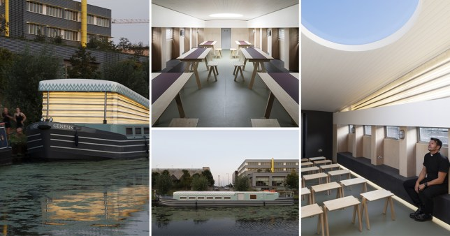 pictures of a new church barge