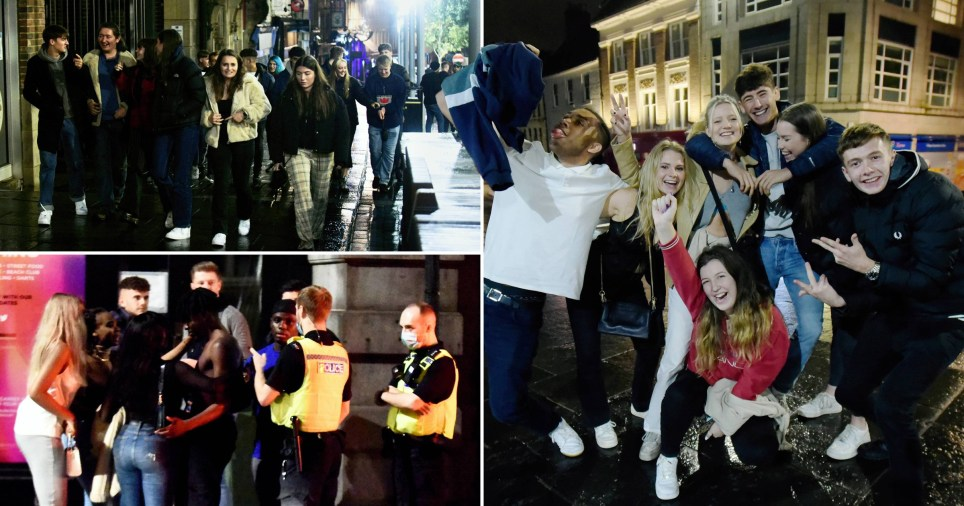 Revellers and students enjoyed a wet and cold night on the town in Newcastle on Wednesday, September 30,  on the first day new clampdown measures were introduced in the North East which meant people could only socialise inside pubs and bars with members of their own households