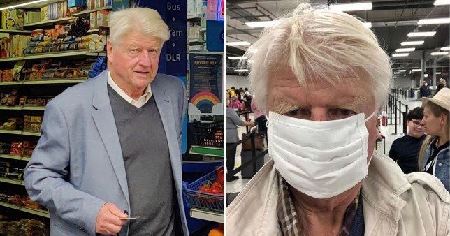 Boris Johnson's father will not be fined after being caught shopping without a face mask, police have announced