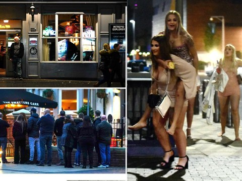 Drinkers have one last night out before tough new rules in four towns and cities