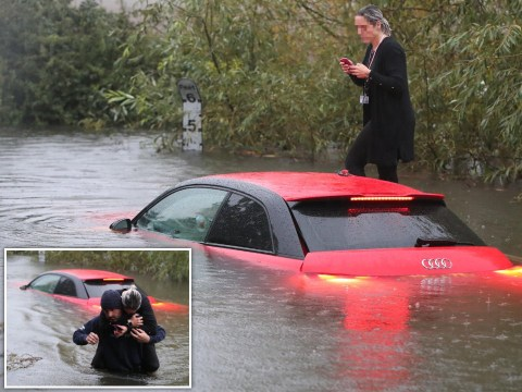 Woman rescued from floods by husband as Storm Alex batters UK for second day