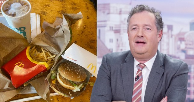 Piers Morgan and his McDonald's order