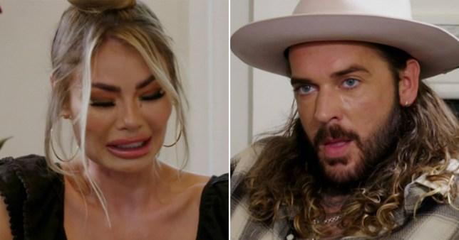 OWIE's Chloe Sims breaks down as she admits she dated men to get 'revenge' on Pete Wicks