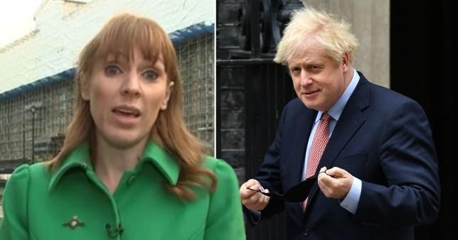 Angela Rayner and Boris Johnson