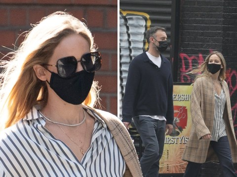 Jennifer Lawrence grabs some fresh air with husband Cooke Maroney on rare low-key stroll through New York