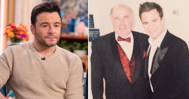 Shane Filan pictured on This Morning and with his dad Peter