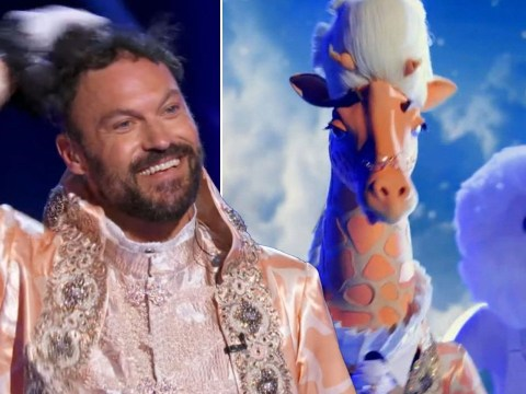 The Masked Singer: Robin Thicke stunned as pal Brian Austin Green revealed to be the Giraffe