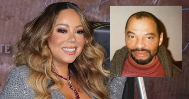 Mariah Carey pictured separately with father