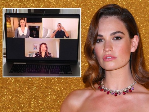 Lily James admits she 'always makes mistakes' as she returns to work after Dominic West drama