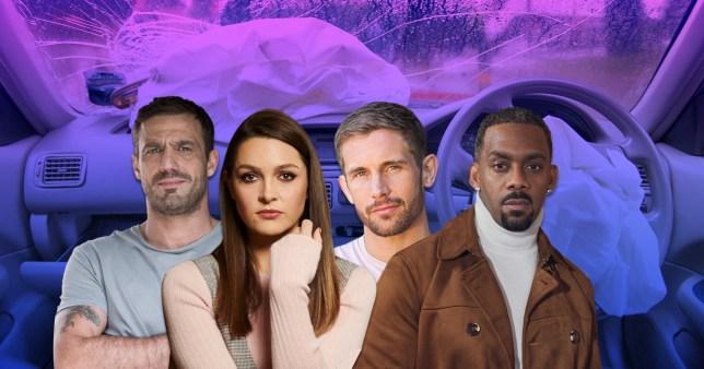 Warren, Sienna, Brody, Felix in Hollyoaks.