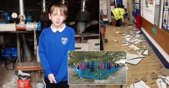 Composite image inside Riverside Primary School