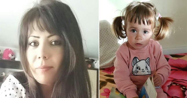 Picture shows a photo of Gabriela Pintilie, side-by-side with daughter Stefania