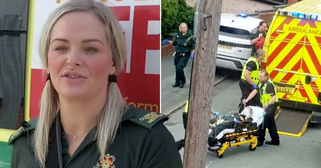 Paramedic returns to work after being stabbed in chest while treating patient