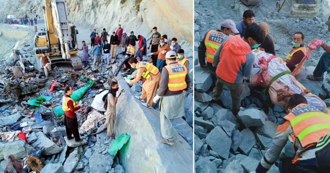 Landslide in Pakistan