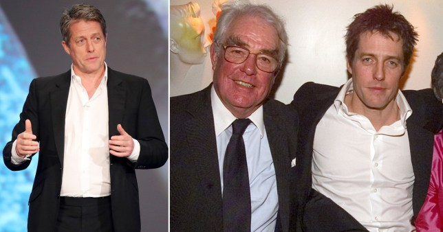 Hugh Grant and his father