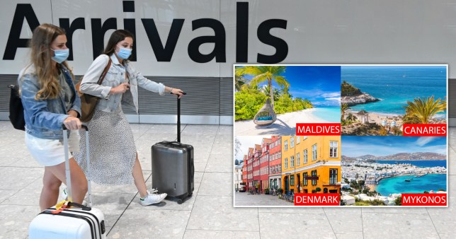 Canary Islands, Denmark, Mykonos and the Maldives taken off travel quarantine list.