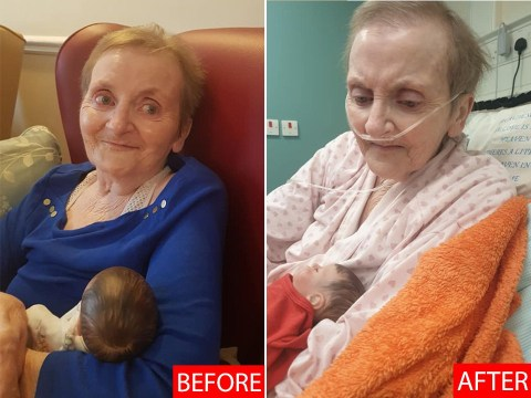 Photos of great gran show heartbreaking toll of care home lockdown
