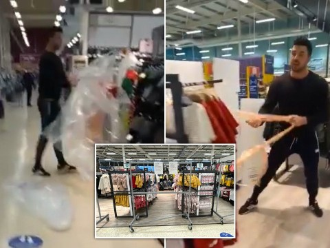 Shopper tears plastic sheets from 'non essential' items in Wales supermarket