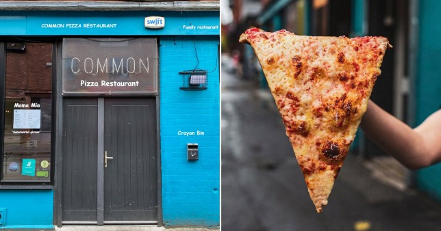 Manchester's Common pizza restaurant was told to close after police said their 22-inch slices were not deemed a 'substantial meal' in line with tier three restrictions.