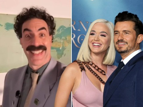 Sacha Baron Cohen's Borat sends birthday message to Katy Perry and calls Orlando Bloom her 'husband'
