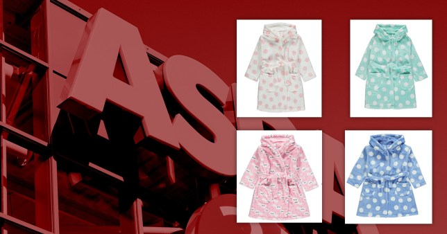 Image of dressing gowns being recalled by Asda