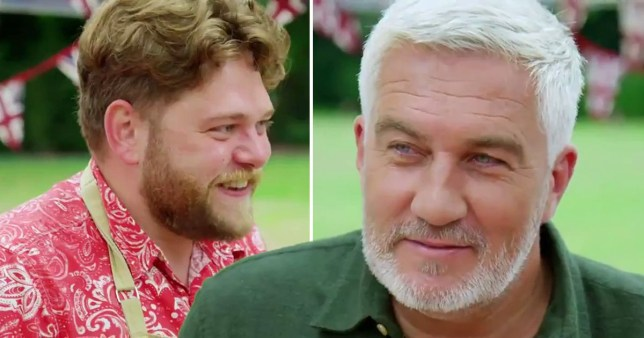 Paul Hollywood and Mark on Bake Off