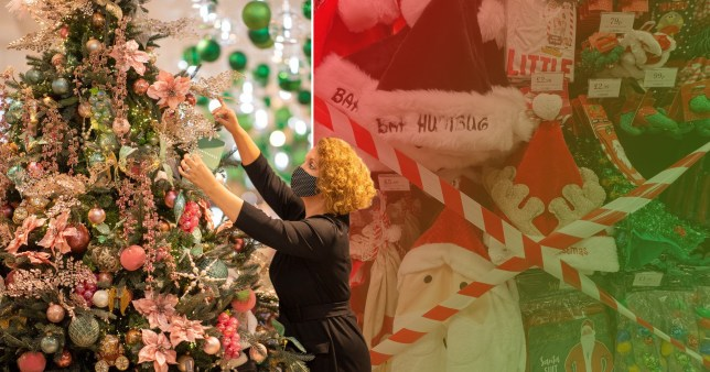 Composite image of Christmas