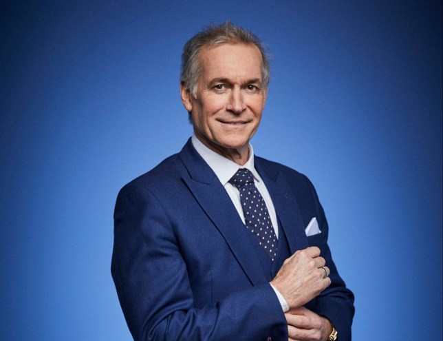 Dr Hilary Jones on blue background