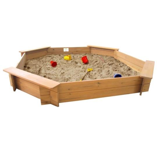 Octagonal sandpit