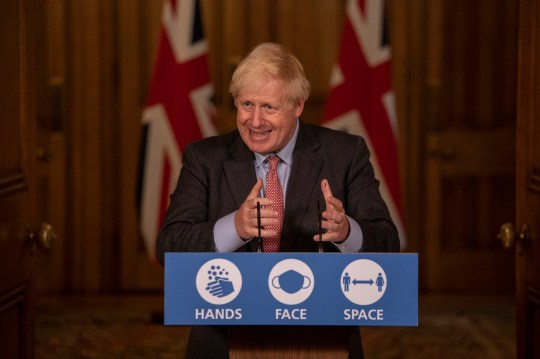 Prime Minister Boris Johnson during a media briefing on Downing Street in London on Cornavirus (COVID-19). PA pictures. Photo Date: Wednesday 30 September, 2020 P See PA Story Health Coronavirus. Photo Credit: Jack Hill / The Times / PA Wire