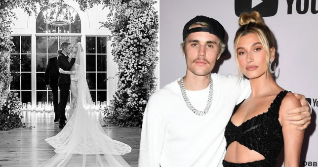 Justin Bieber and Hailey Baldwin pictured on their wedding day and on the red carpet