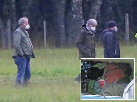 Jeremy Clarkson masks up as The Grand Tour returns to filming in the UK amid coronavirus restrictions