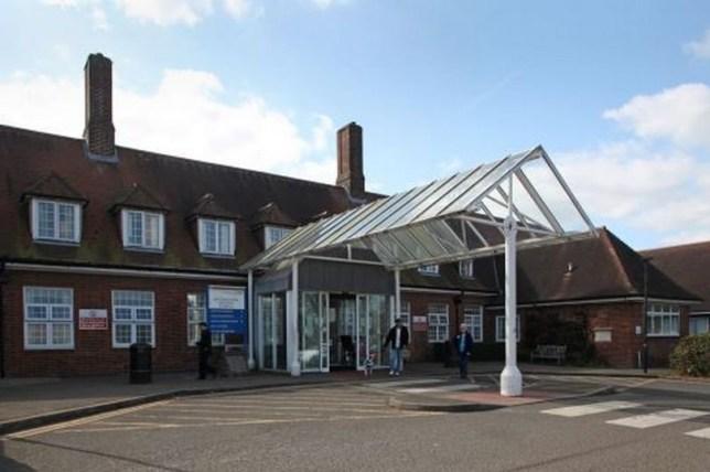 Hospital put on lockdown after knifeman tasered by police Sittingbourne Memorial Hospital site