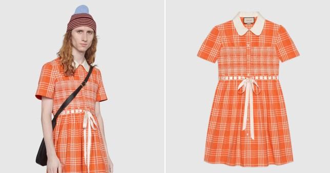 Gucci tartan dress