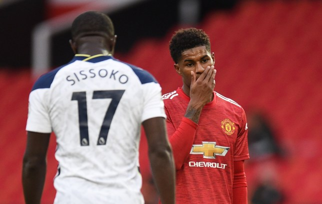 Marcus Rashford has issued an apology after Manchester United's defeat to Spurs