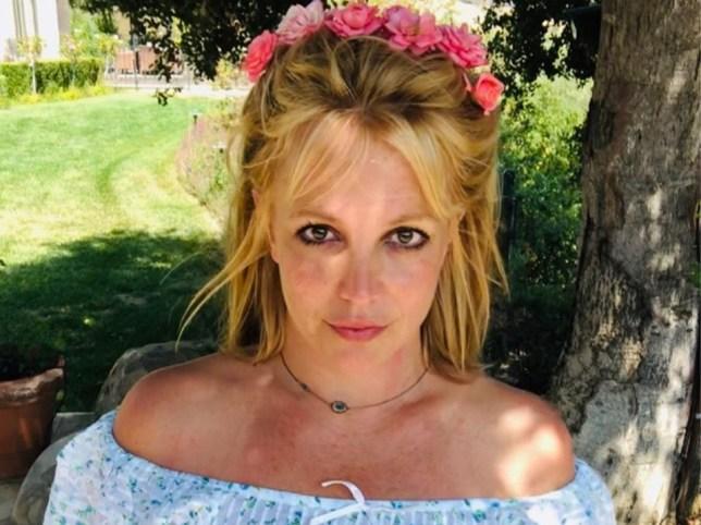 Britney Spears posing in Instagram photo