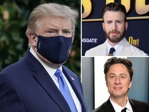 Chris Evans and Zach Braff lead stars blasting Donald Trump over 'don't be afraid of Covid' tweet