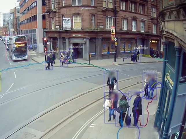 Cameras to monitor social distancing
