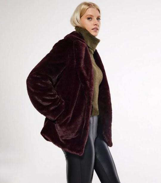 a new look faux fur coat