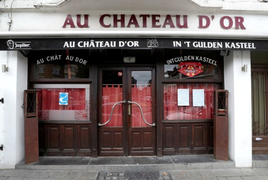 FILE PHOTO: View of a cafe after its closure following authorities decision to close all Brussels' cafes and bars for one month after a spike of the coronavirus disease (COVID-19) infections in the country, in Brussels, Belgium October 8, 2020. REUTERS/Yves Herman/File Photo